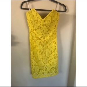 NWT BEBE STRAPLESS LACE DRESS